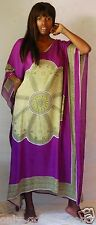 purple green exclusive caftan v neck M L 1X 2X 3X 4X BIG ZE550