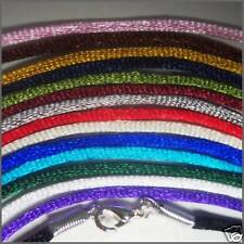 "15 Necklace Cords for Pendants Satin QUALITY HANDMADE  Color set 22"" length"