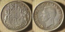 Canada : 1943  1/2 Dol. CH.AU Rim Ding K12  Luster  #36   IR7972