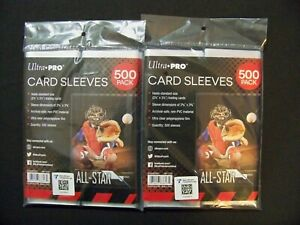 (2000) ULTRA PRO - Soft Penny Poly Sleeves Trading Card Protective Holders Pack