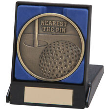 Nearest the Pin Golf Medal In A Box 70mm Boxed Golf Medals FREE Engraving