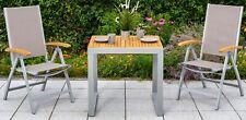MERXX Gartentisch Naxos, Eukalyptus/Alu, ausziehbar, 120x70 cm, natur