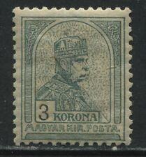 Hungary 1900 3 kr green mint o.g. hinged