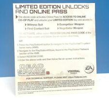DEAD SPACE 3 LIMITED EDITION UNLOCKS AND ONLINE PASS (PS3) DLC ONLY #77