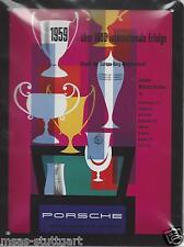PORSCHE panneau en tôle CHAMPIONNAT MONTAGNARD Européen 1959 20 x 15 cm