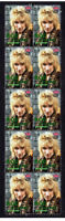 ROD STEWART UK MUSIC ICON STRIP OF 10 MINT VIGNETTE STAMPS 4
