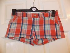 "BRAND NEW LADIES DESIGNER HOLLISTER SO CAL STRETCH SHORT SIZE 0 (23-25"") RRP £45"