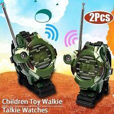 7-In-1 Watches Walkie Talkie Children Watch Radio Two Way Interphone Toys 1 Pair