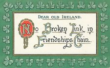 ST. PATRICK'S DAY – Dear Old Ireland - 1910