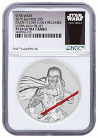 Darth Vader UHR 2 oz Silver 2017 Niue Star Wars NGC PF69 UC ER SKU49470