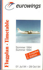 Eurowings system timetable 7/1/94 [5071] Buy 2 get 1 free