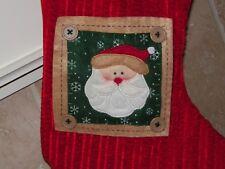SANTA CLAUS CHRISTMAS HANGING STOCKING PLUSH Craft Style Buttons