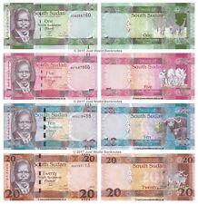 South Sudan 1 + 5 + 10 + 20 Pounds Set of 4 Banknotes 4 PCS UNC