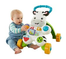 Baby Learning Push Toy Zebra Walker Music Lights Activity Toddler Sit Stand Play