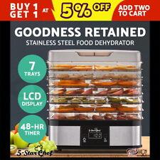 5-Star Chef 7 Trays Food Dehydrator Fruit Dryer Beef Jerky Maker Stainless Steel