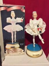 Animated Musical Ballerina Rotates Kicks Legs Arms Christmas International Vntg