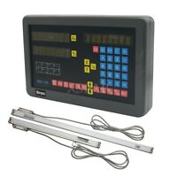 2 Axis Digital Readout DRO Kit with Linear Scales for Milling Machine XS*