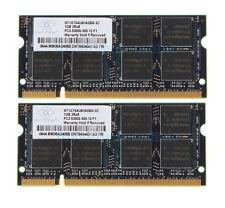 Nanya 2GB 2X1GB 2RX8 DDR2 667MHz PC2-5300S 200Pin SO-DIMM For RAM Laptop Memory