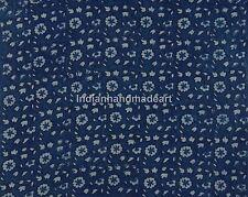 5 yards Indian Fabric Indigo Blue Print 100% Cotton Fabric Yard Hand Block Print