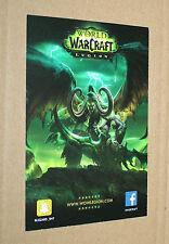 World of Warcraft WOW Legion AD Karte Flyer Promo von Gamescom 2016