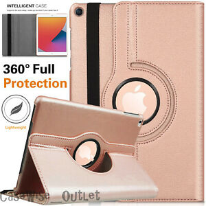 """For Apple iPad 10.2"""" 8th Generation 2020 360 Rotating Leather Smart Case Cover"""