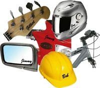 3 x CUSTOM NAME VINYL STICKER personalise your car bike van shop window decal