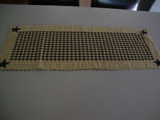 New listing The Country House Collection Navy Homespun Star Table Runner 13 X 36 inches