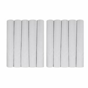 Handkerchief White with Self Satin Stripe Pack of 12