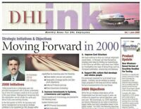 DHL Ink Monthly New For DHL Employees Vol 1 June 2000 Moving Forward In 2000