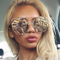 Fashion Women Men Metal Round Frame Eyegalsses Lens Big Sunglasses Glasses Cool