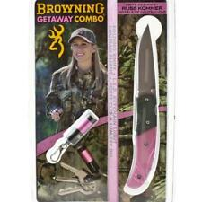 Browning Getaway Combo Pink Knife/LED keychain light