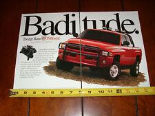DODGE RAM V10 ORIGINAL 2 PAGE AD
