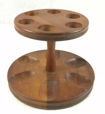 More details for decatur inustries ink round pipe rack/stand teak 12.5cm in height