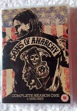 SONS OF ANARCHY-SEASON ONE (DVD, 4-DISC SET) REGION-2, LIKE NEW, FREE POSTAGE