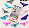 Underwear Thong 2pcs Silicone Home Button Case Cover For iPhone 5S 6 4S Sexy