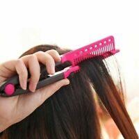 1PC Fashion V Type Hair Straightener Comb DIY Salon Hairdressing Styling Tool
