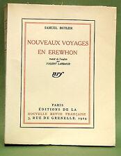 BUTLER (S.) & V. LARBAUD. Nouveaux voyages en Erewhon... Un des 8 hors-commerce