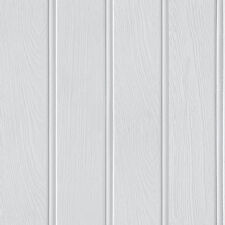 Tongue and Groove Grey Wood Panel Wallpaper by Arthouse 694300