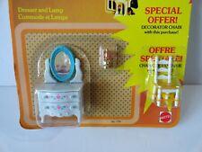 Mattel Littles Dollhouse Miniature 1:24 Furniture 1980 Bedroom Dresser Metal NOS