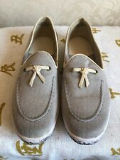 J Shoes Canvas/Leather Deck Shoes Size 9/43