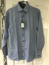 BNWTS Mens Marks & Spencer Slim Fit Shirt 15.5 Inch Collar Pure Cotton Non Iron