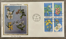 FDC FIRST DAY COVER ENDANGERED FLORA COLORANO SILK CACHET