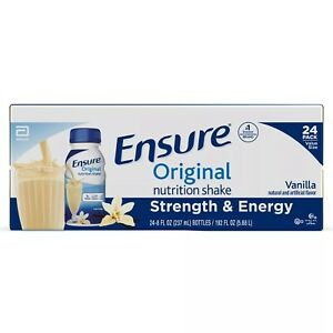 Ensure Original Nutrition Vanilla Meal Replacement Shakes with 9g Protein 24 Ct.