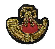Badge Light Infantry Embroidered Bullion Blazer Badge Gold Army Military R1672