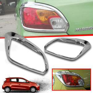 CHROME TAIL LIGHT REAR LAMP COVER FIT FOR MITSUBISHI MIRAGE 2012-2015