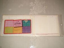 KNITTING MACHINE ACCESSORY'S PUNCH CARDS FOR STANDARD GAUGE MACHINES volume 9