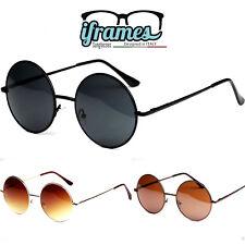 Occhiali da Sole iFrames Tondi Rotondi Fume' Hippy Retro Vintage Donna/Uomo