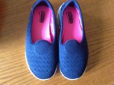 Skechers Women's 6 Go Walk 2 Front Runner Slip-On Navy Blue Mesh Sneakers Shoes