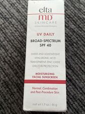 EltaMD Skincare UV Daily Broad-Spectrum SPF 40 Untinted 1.7 oz 50 ML Exp 4/2022