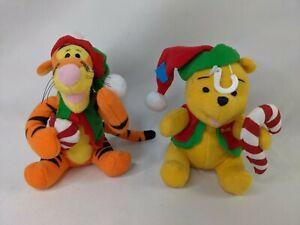 "Applause Winnie the Pooh Tigger Christmas Plush 5"" Lot Stuffed Animal Toy"